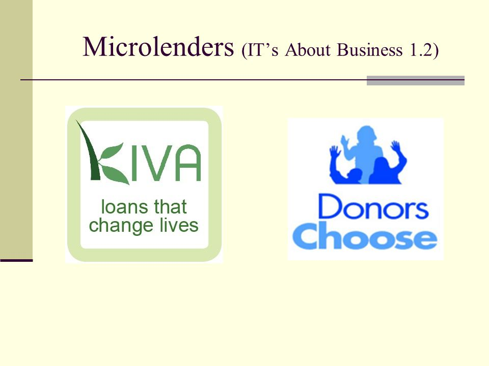 Microlenders (IT's About Business 1.2)