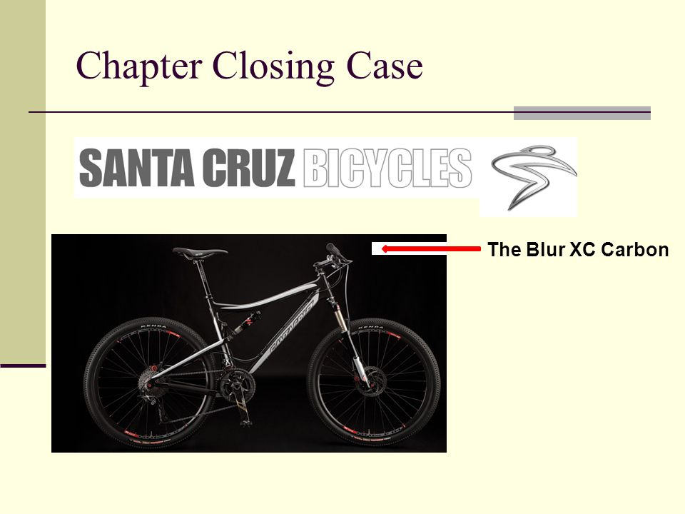 Chapter Closing Case The Blur XC Carbon