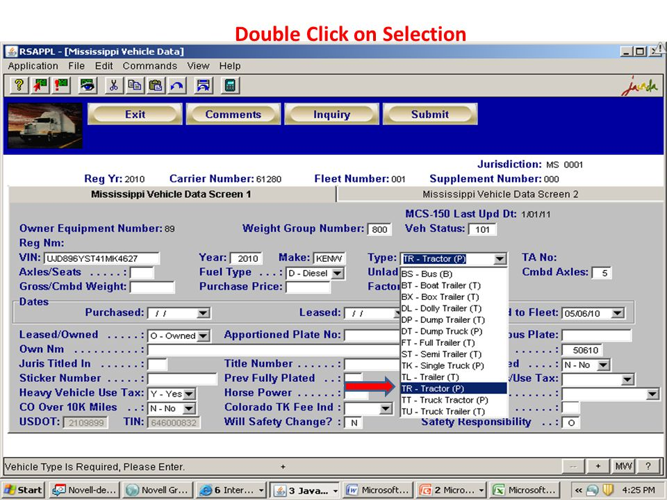 Double Click on Selection