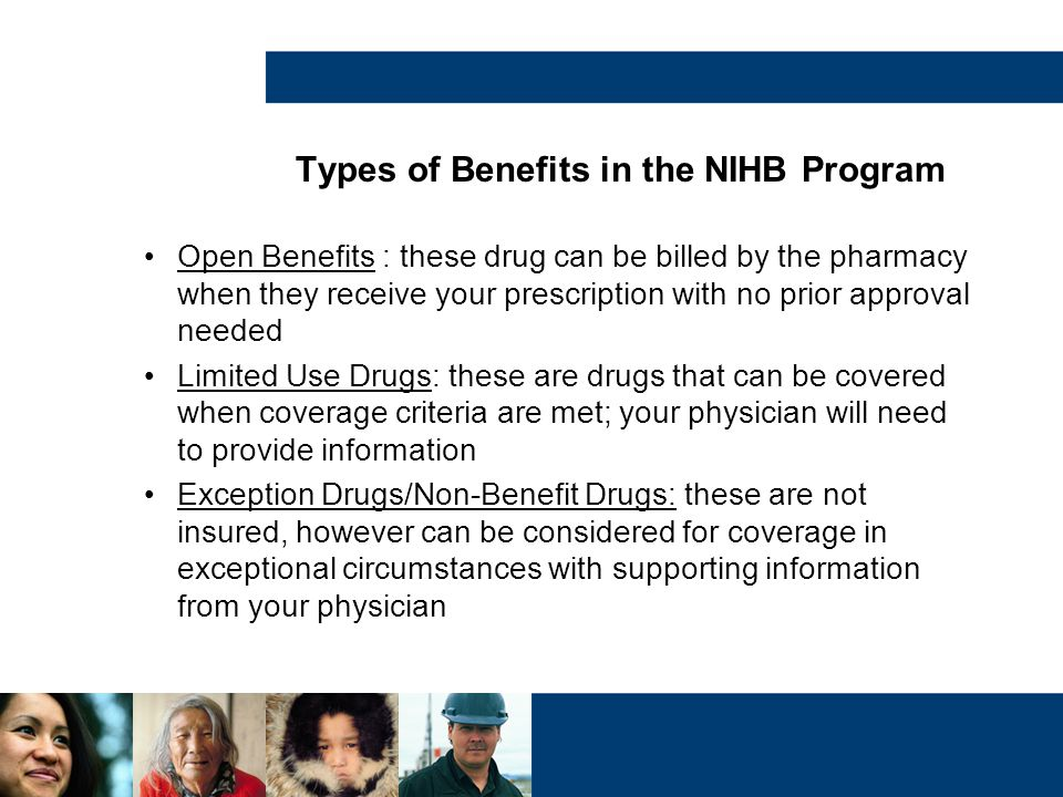 Types of Benefits in the NIHB Program