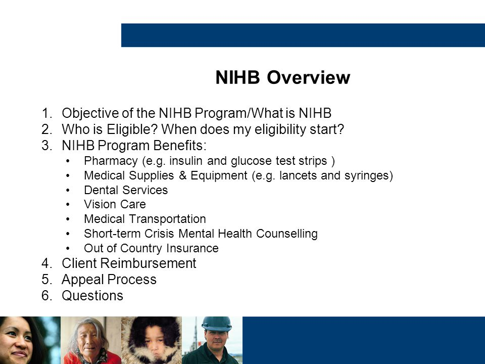 NIHB Overview Objective of the NIHB Program/What is NIHB