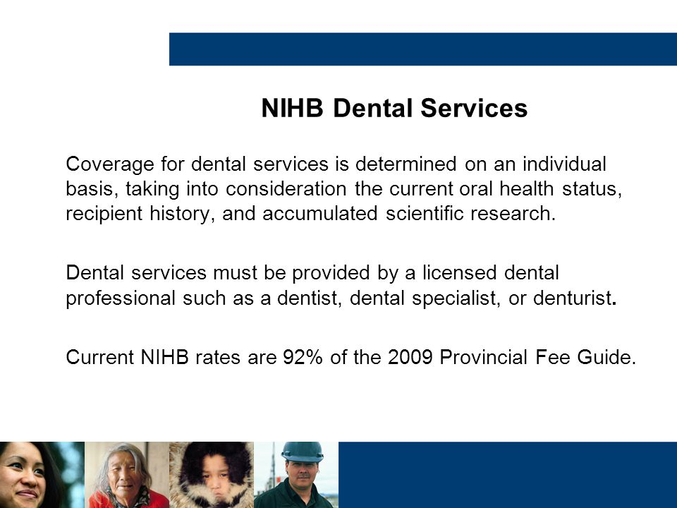 NIHB Dental Services