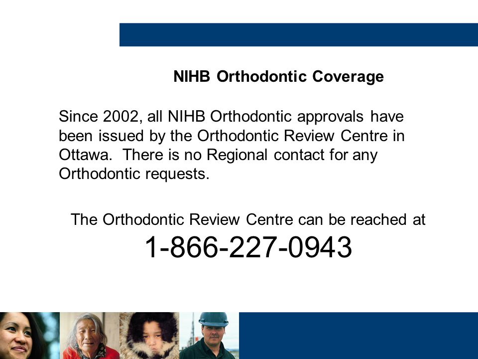 NIHB Orthodontic Coverage