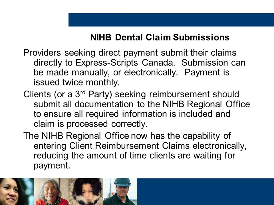 NIHB Dental Claim Submissions