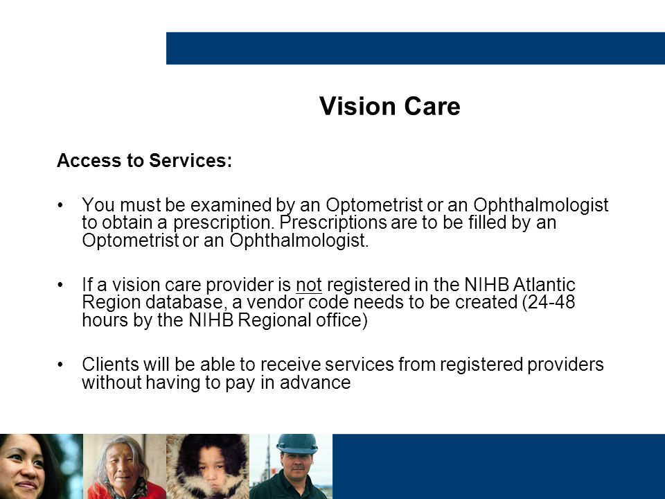 Vision Care Access to Services: