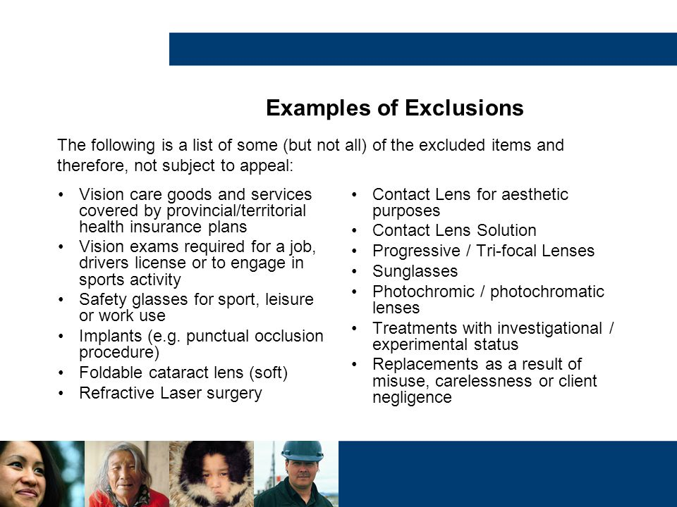 Examples of Exclusions