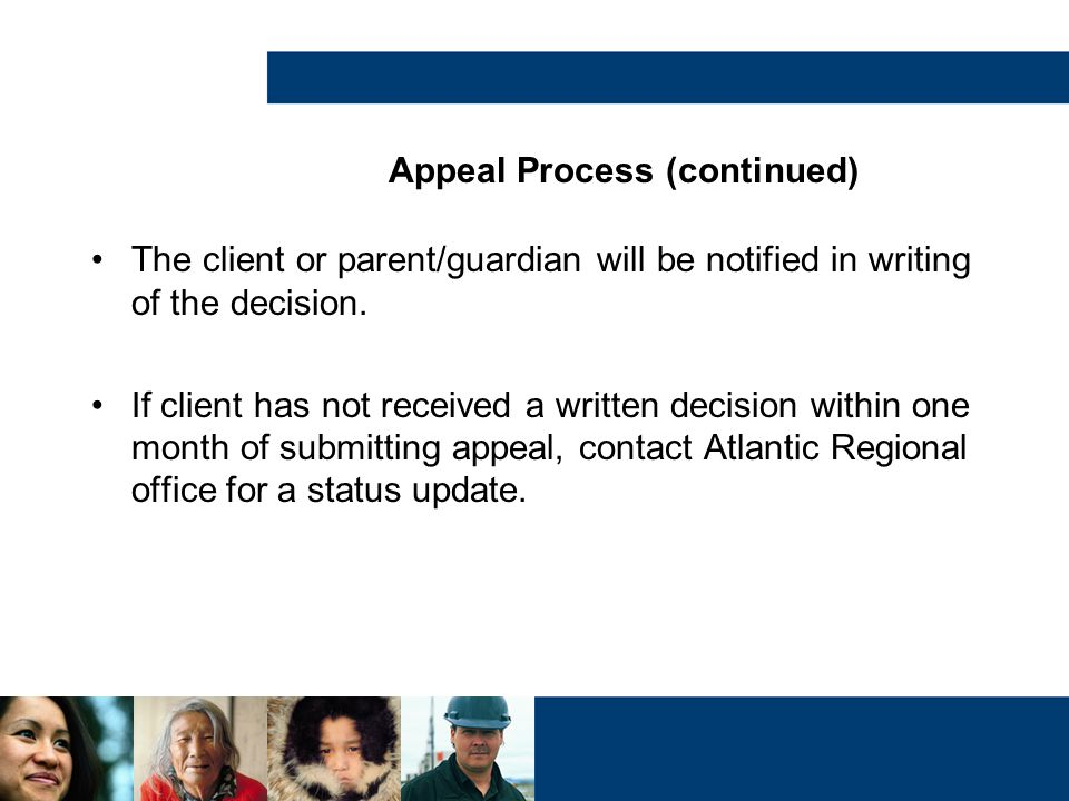 Appeal Process (continued)