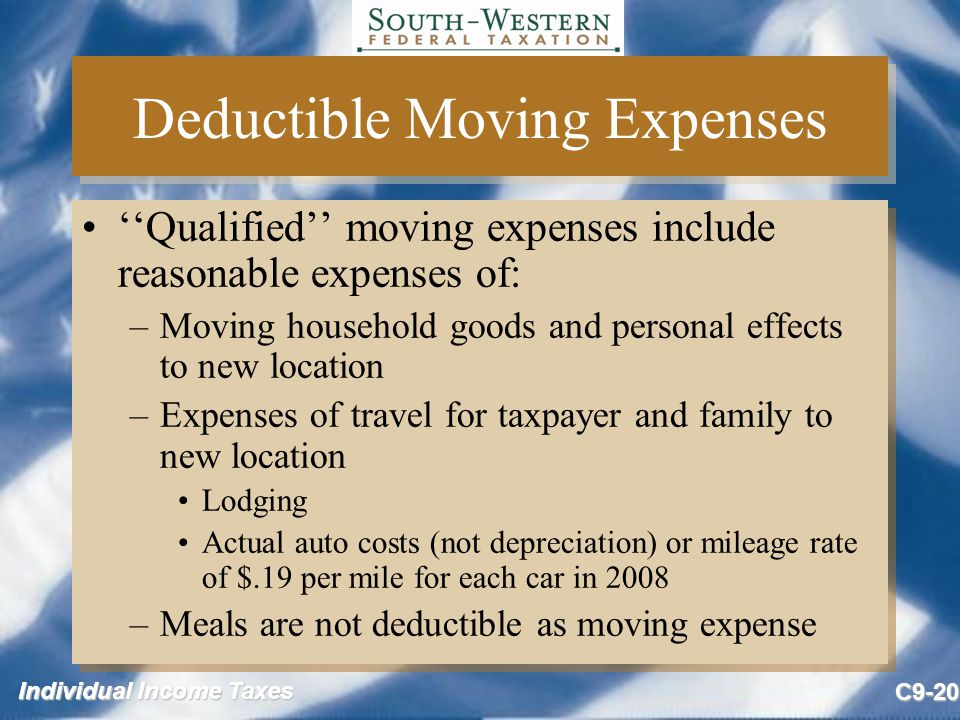 Deductible Moving Expenses