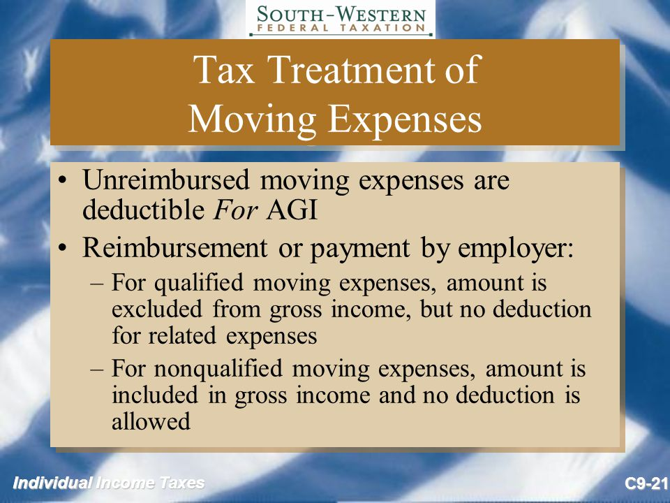 Tax Treatment of Moving Expenses