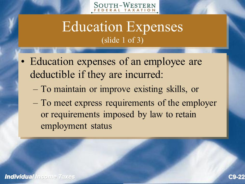 Education Expenses (slide 1 of 3)