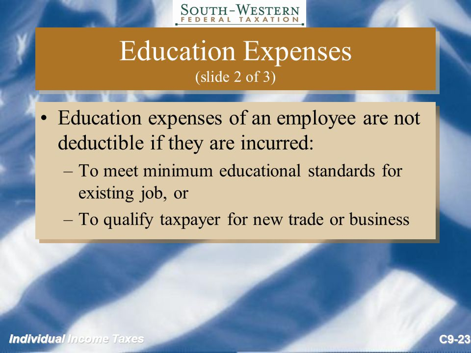 Education Expenses (slide 2 of 3)