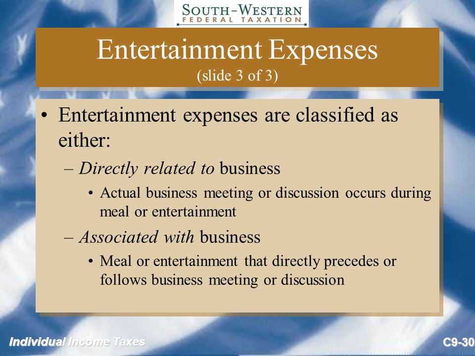 Entertainment Expenses (slide 3 of 3)