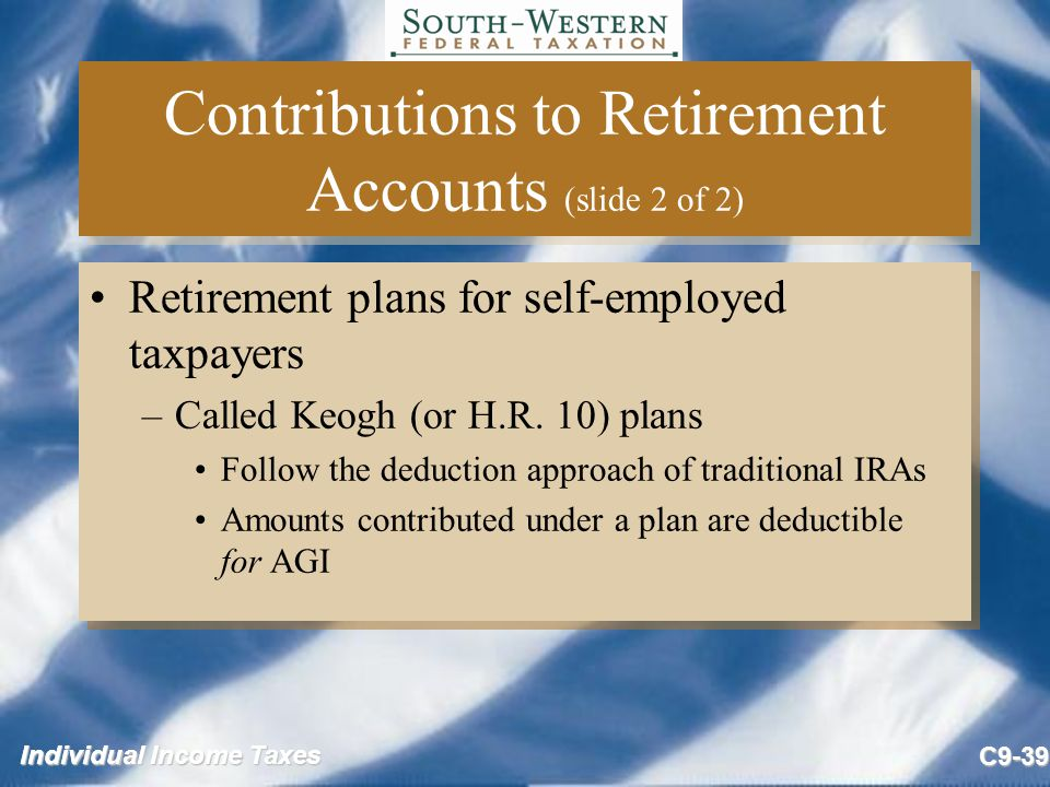 Contributions to Retirement Accounts (slide 2 of 2)