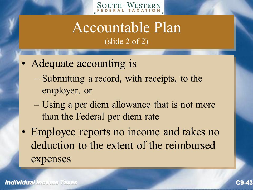 Accountable Plan (slide 2 of 2)