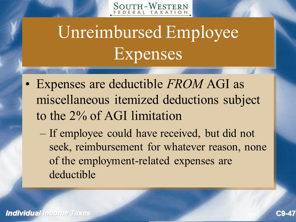 Unreimbursed Employee Expenses