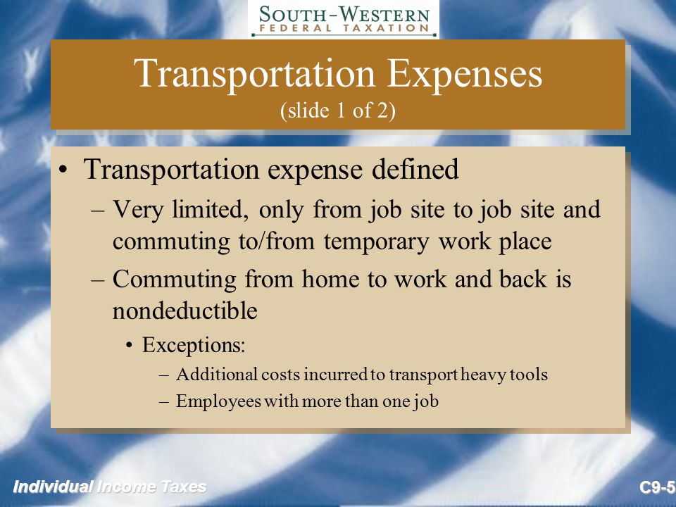 Transportation Expenses (slide 1 of 2)