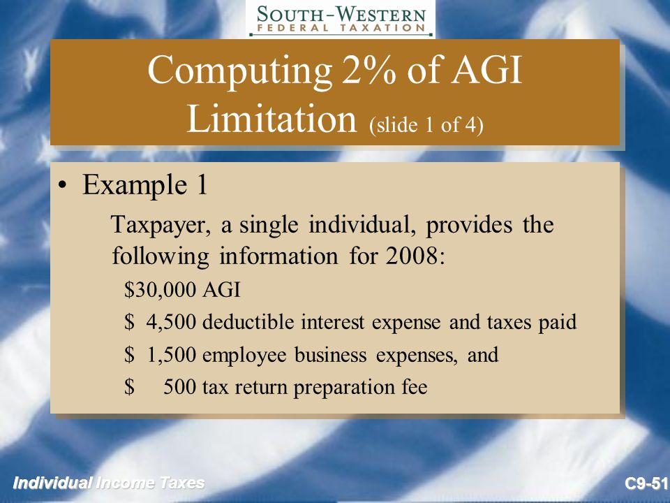 Computing 2% of AGI Limitation (slide 1 of 4)