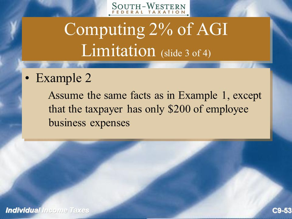 Computing 2% of AGI Limitation (slide 3 of 4)