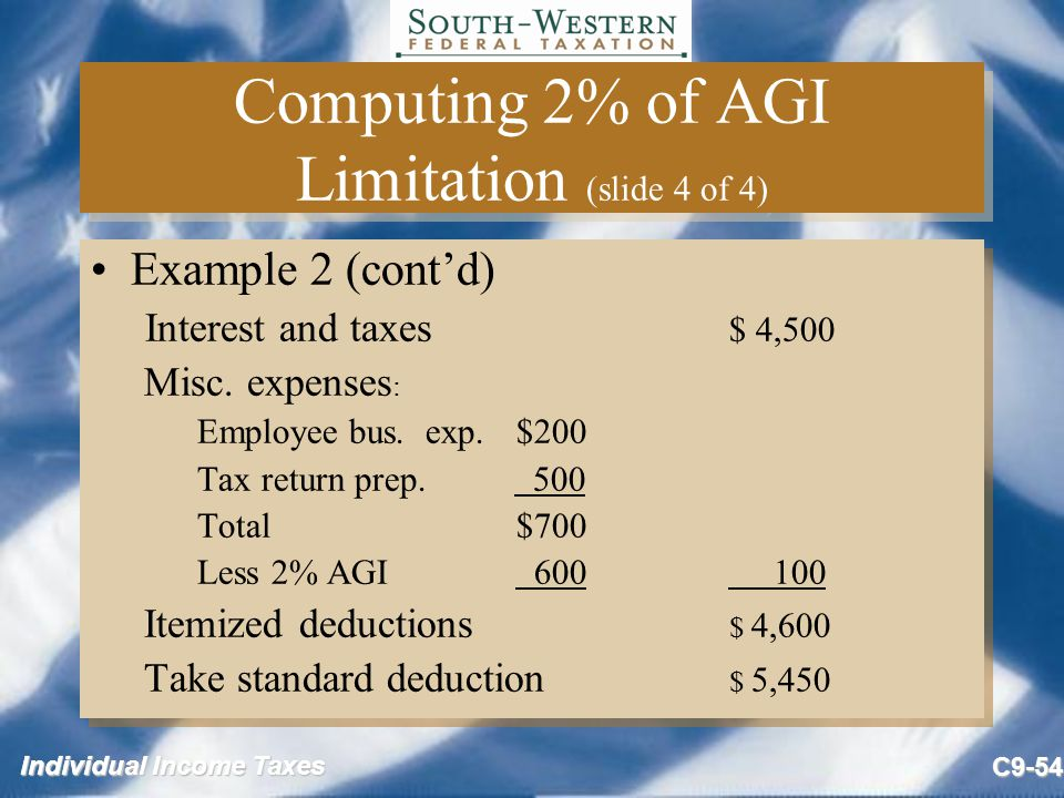 Computing 2% of AGI Limitation (slide 4 of 4)
