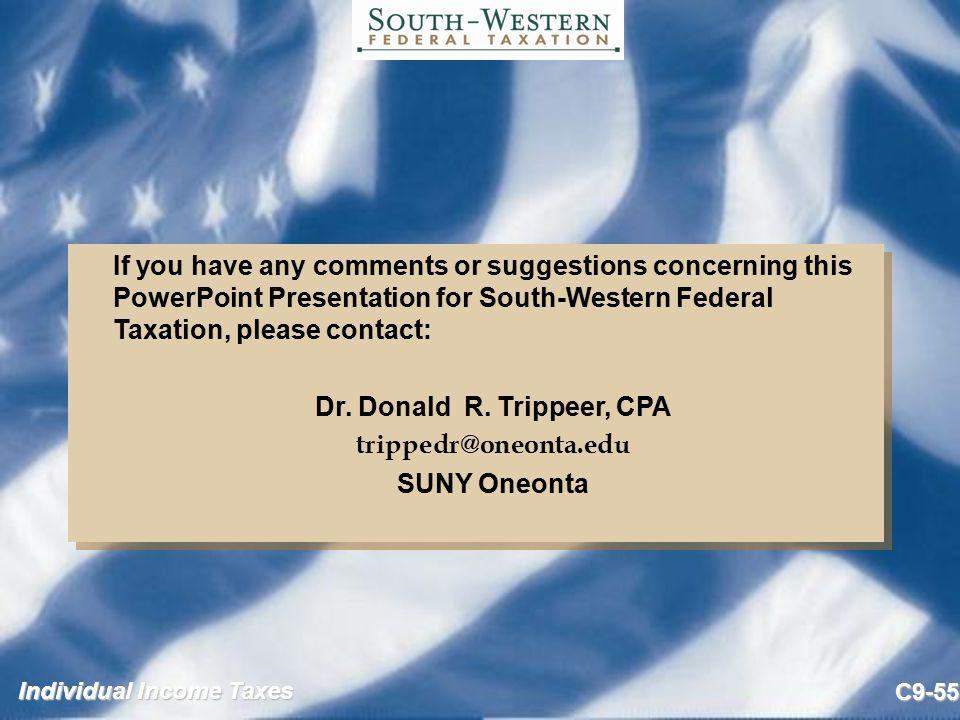 Dr. Donald R. Trippeer, CPA