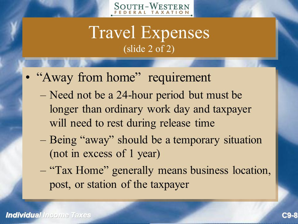 Travel Expenses (slide 2 of 2)