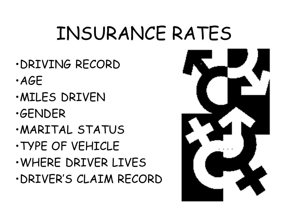 INSURANCE RATES DRIVING RECORD AGE MILES DRIVEN GENDER MARITAL STATUS