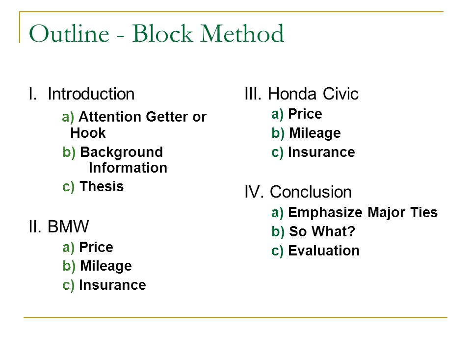 What Is a Block Outline?