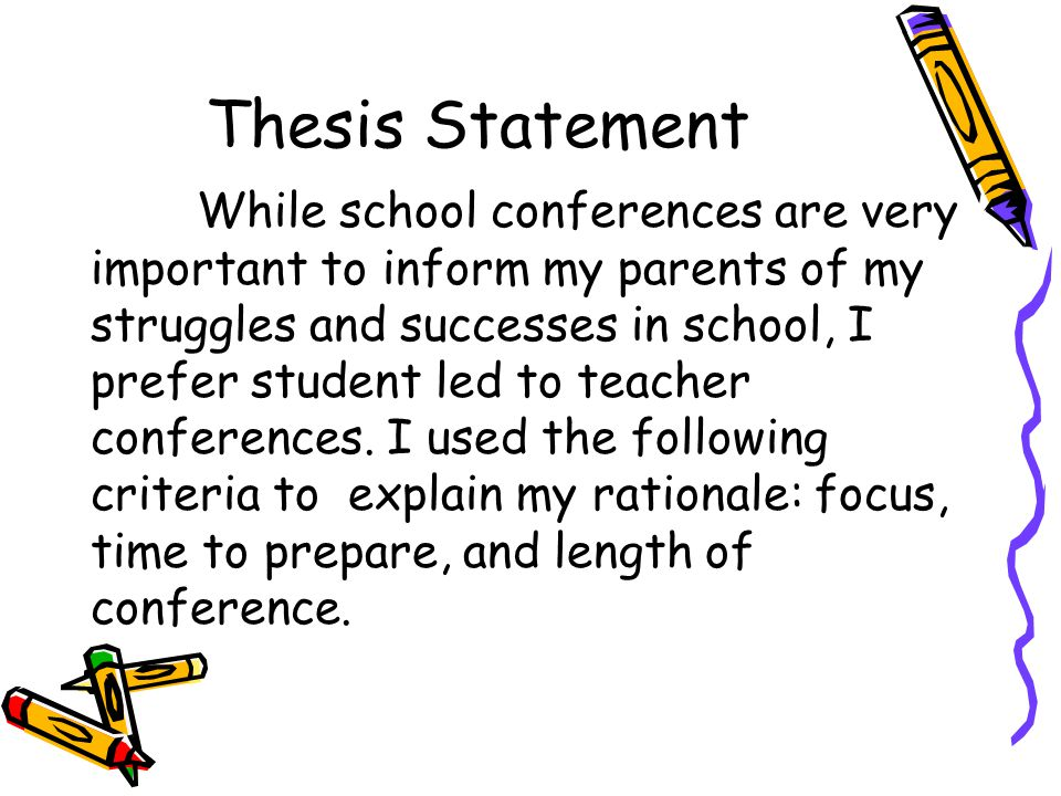 a thesis statement for parenting