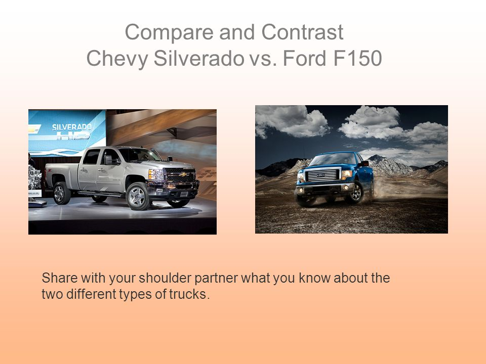Chevy Silverado vs. Ford F150
