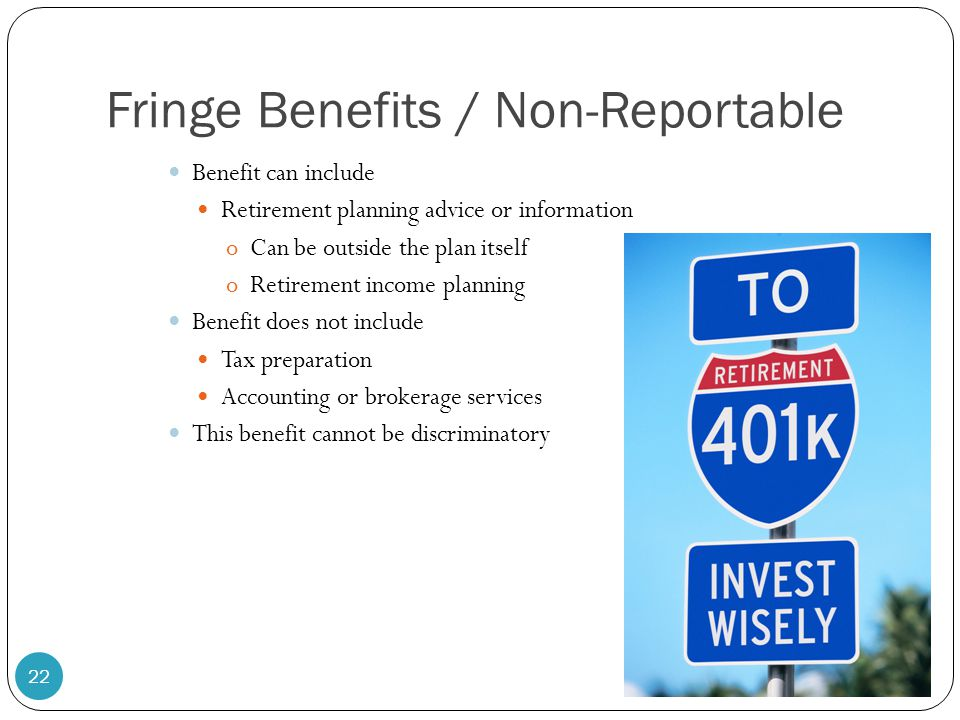 Fringe Benefits / Non-Reportable
