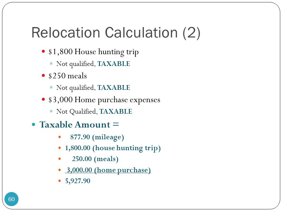 Relocation Calculation (2)