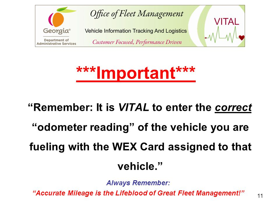Accurate Mileage is the Lifeblood of Great Fleet Management!