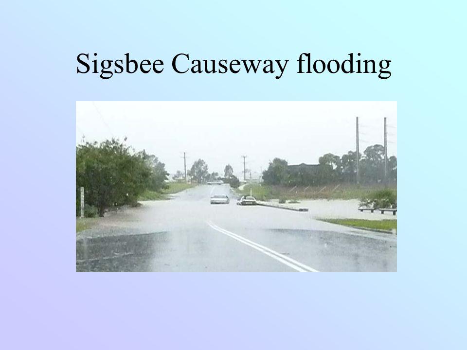 Sigsbee Causeway flooding