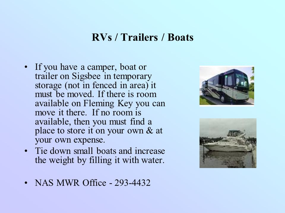 RVs / Trailers / Boats