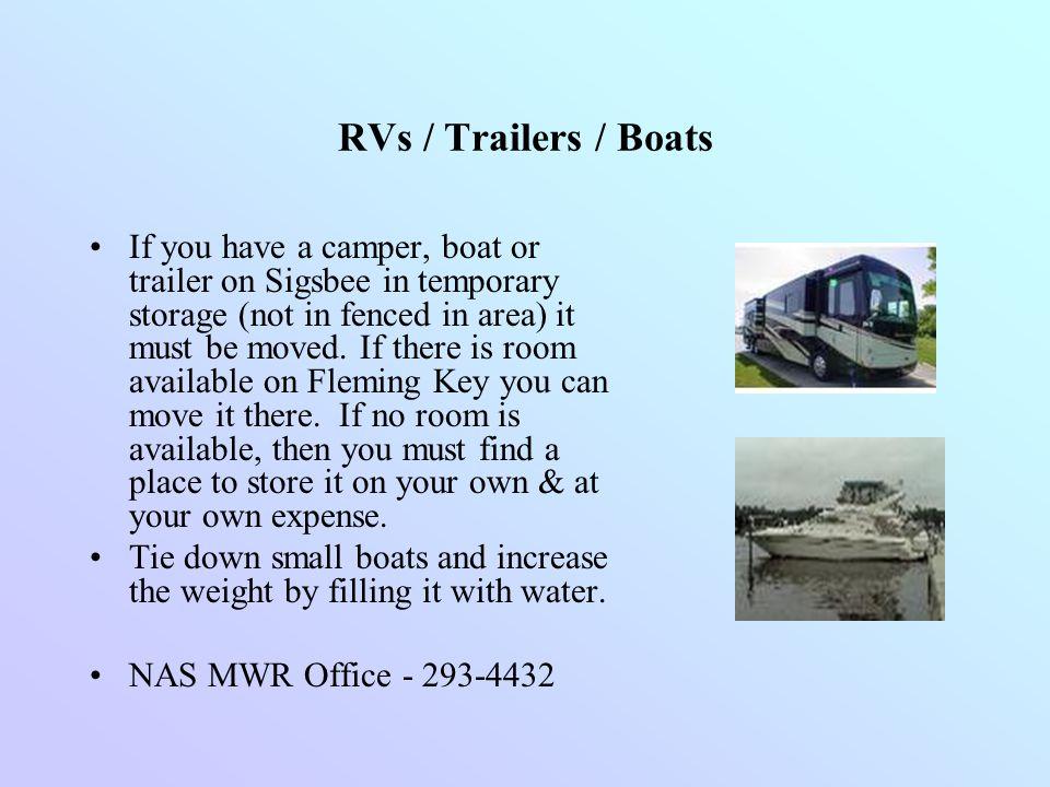 RVs / Trailers / Boats