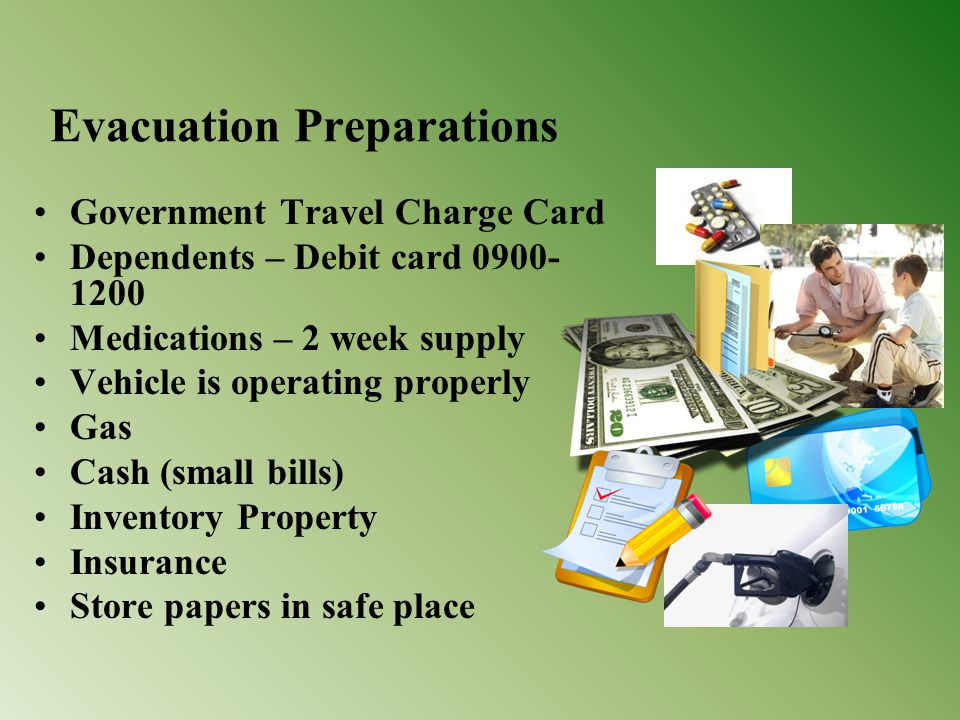 Evacuation Preparations