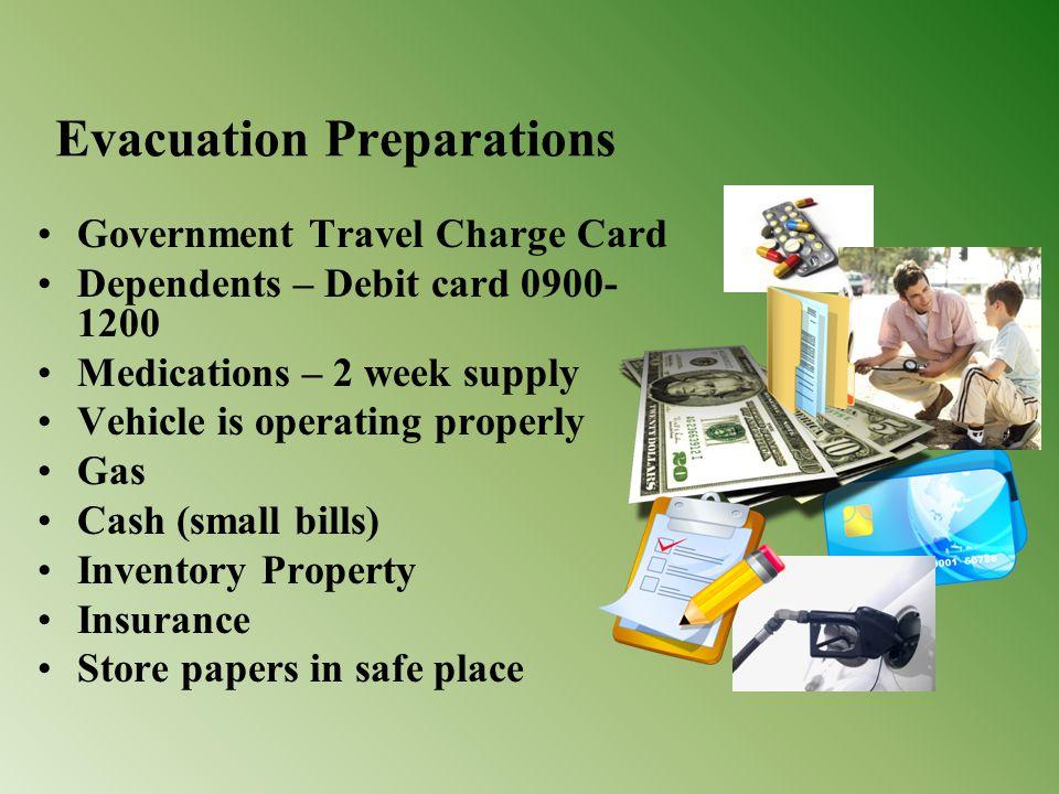 Evacuation Preparations