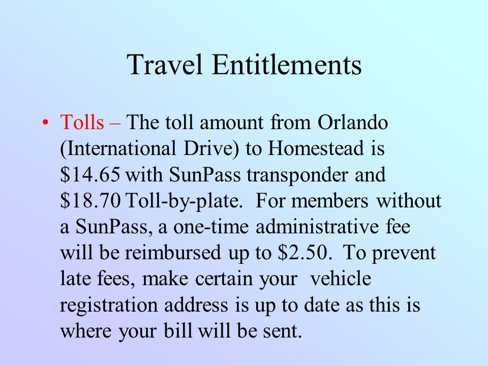 Travel Entitlements