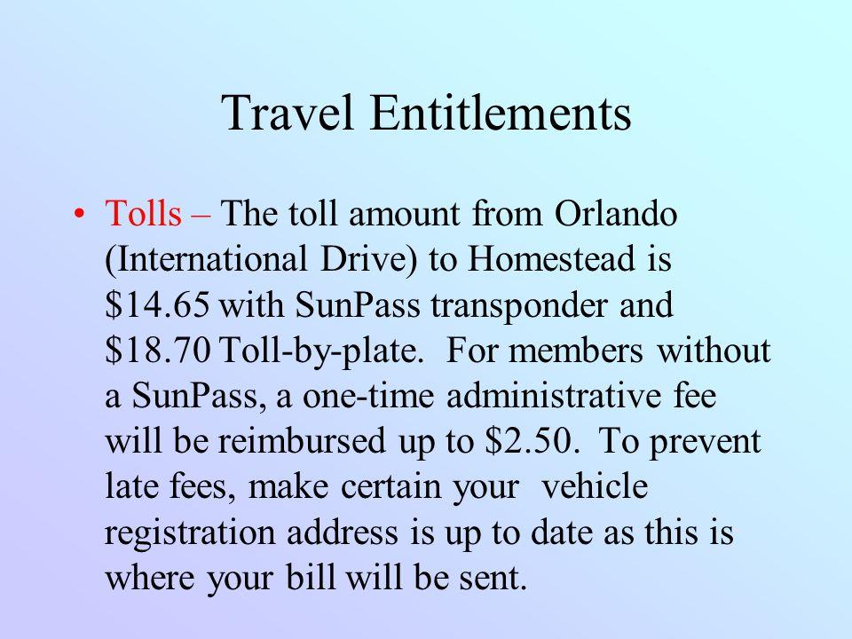 Travel Entitlements