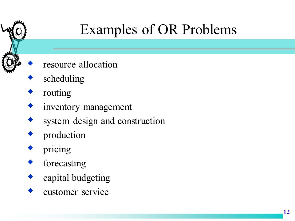 Examples of OR Problems