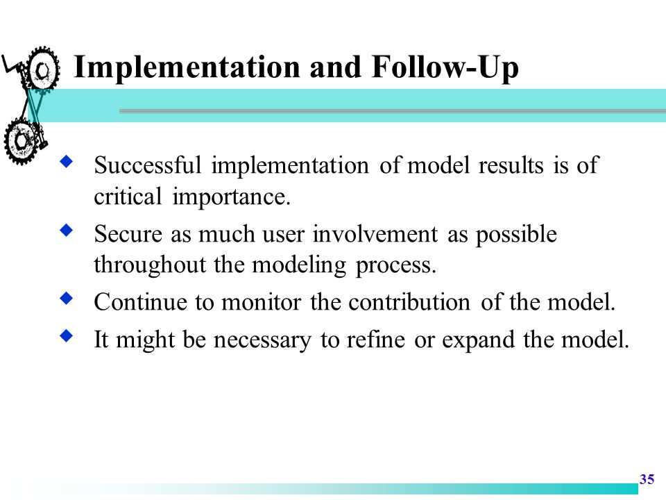 Implementation and Follow-Up