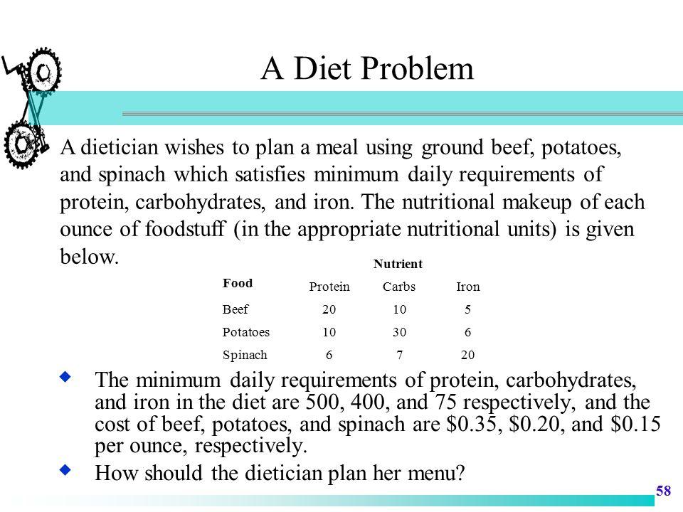 A Diet Problem