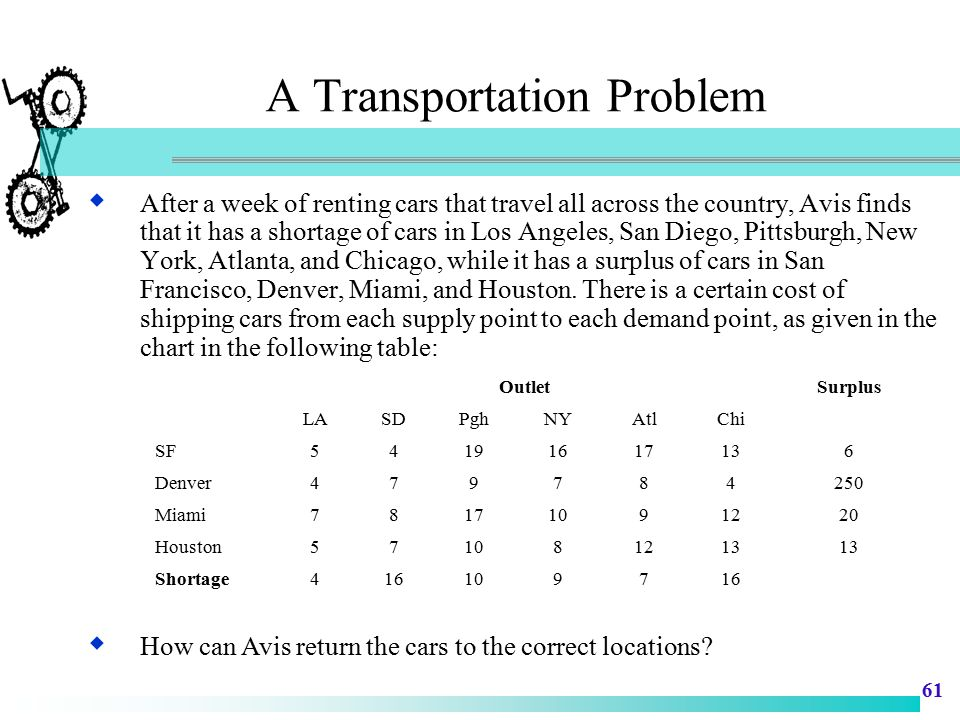 A Transportation Problem