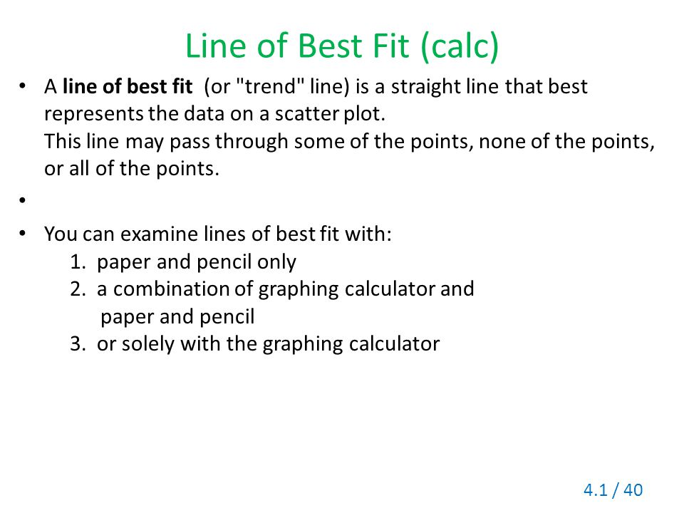 Line of Best Fit (calc)