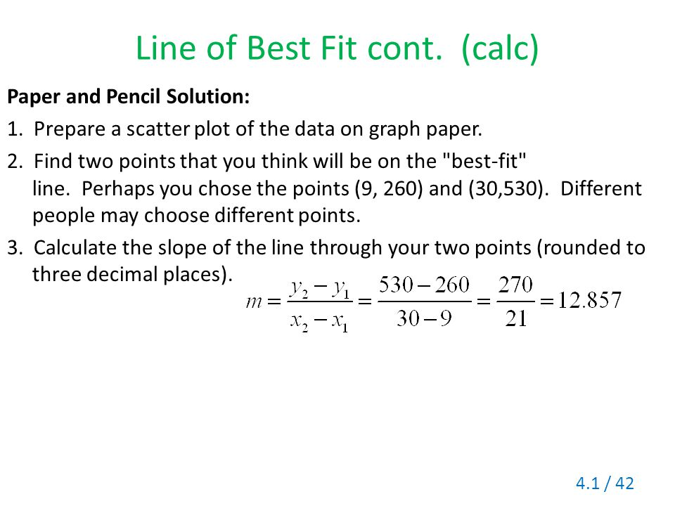 Line of Best Fit cont. (calc)