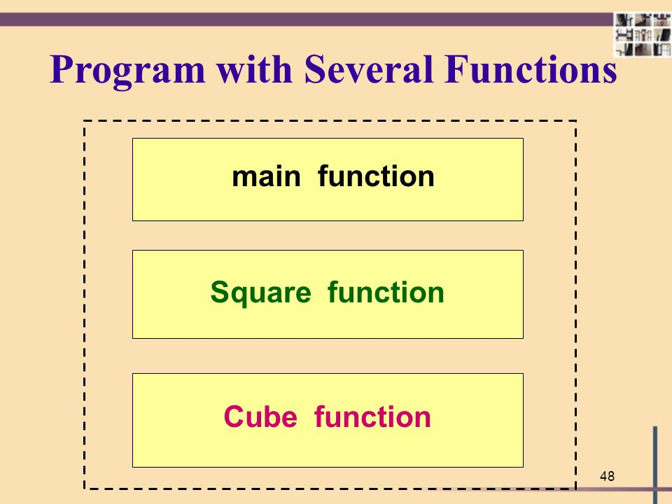 Program with Several Functions