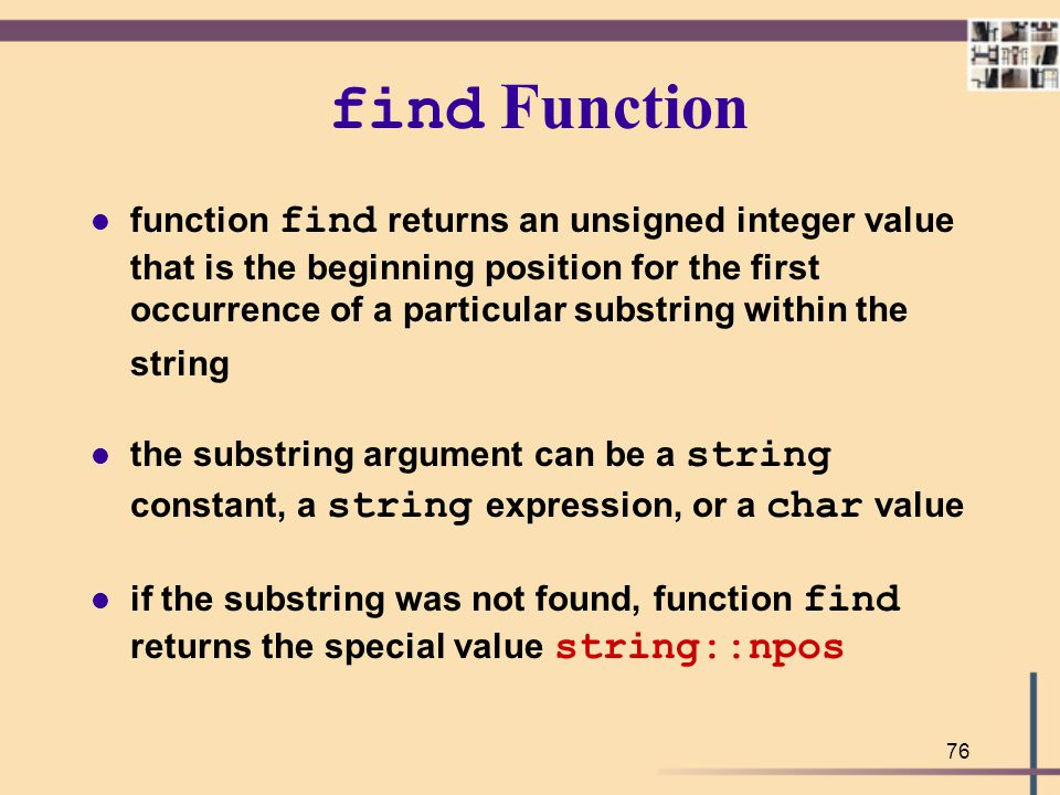 find Function