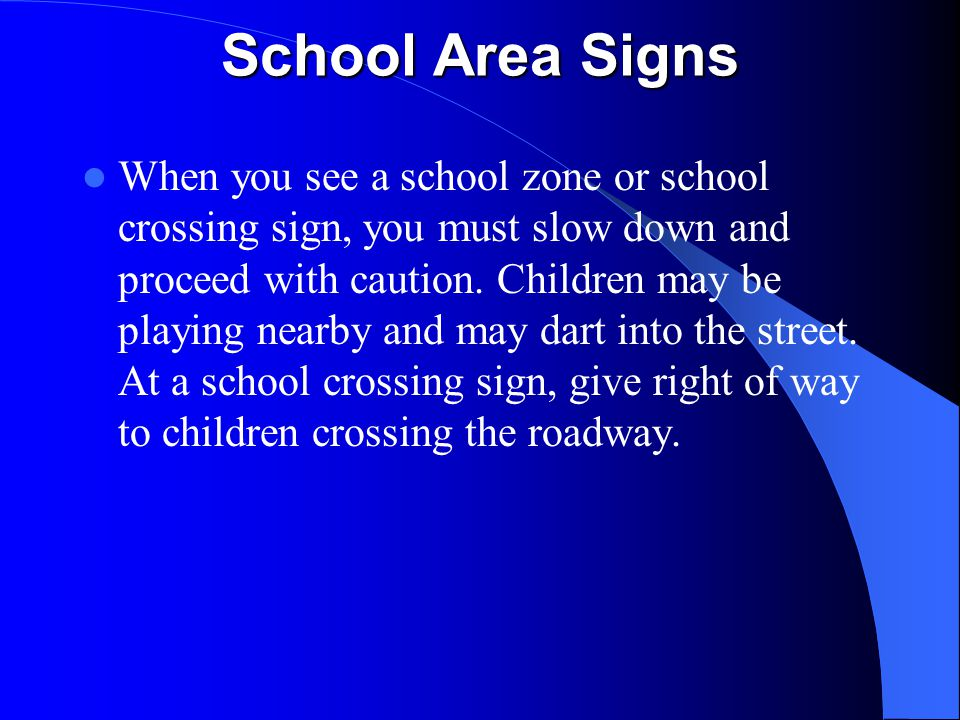 School Area Signs