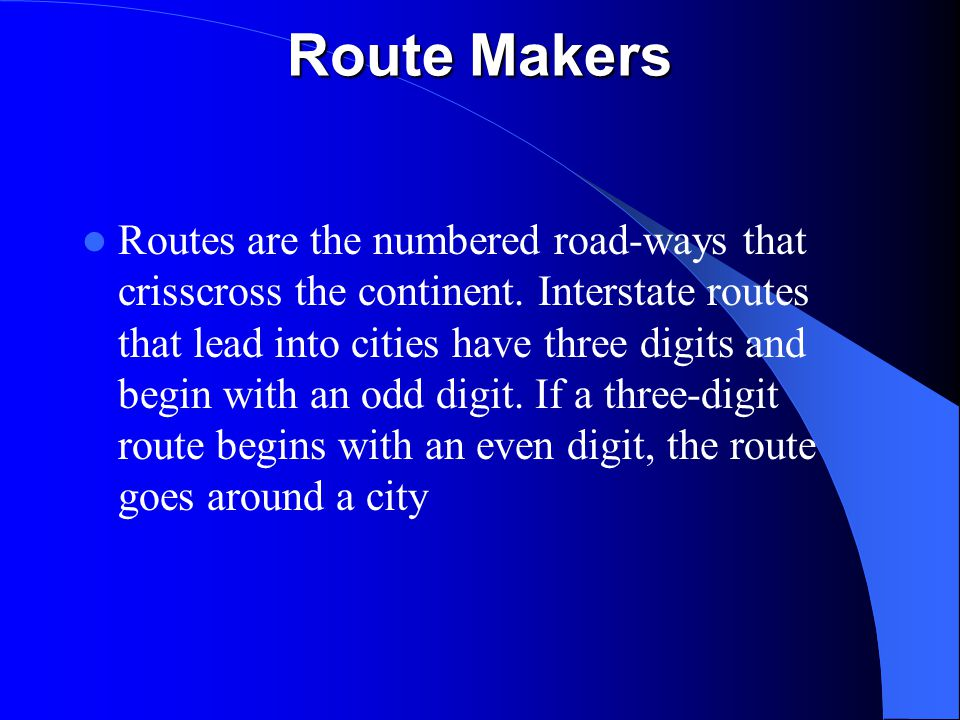 Route Makers