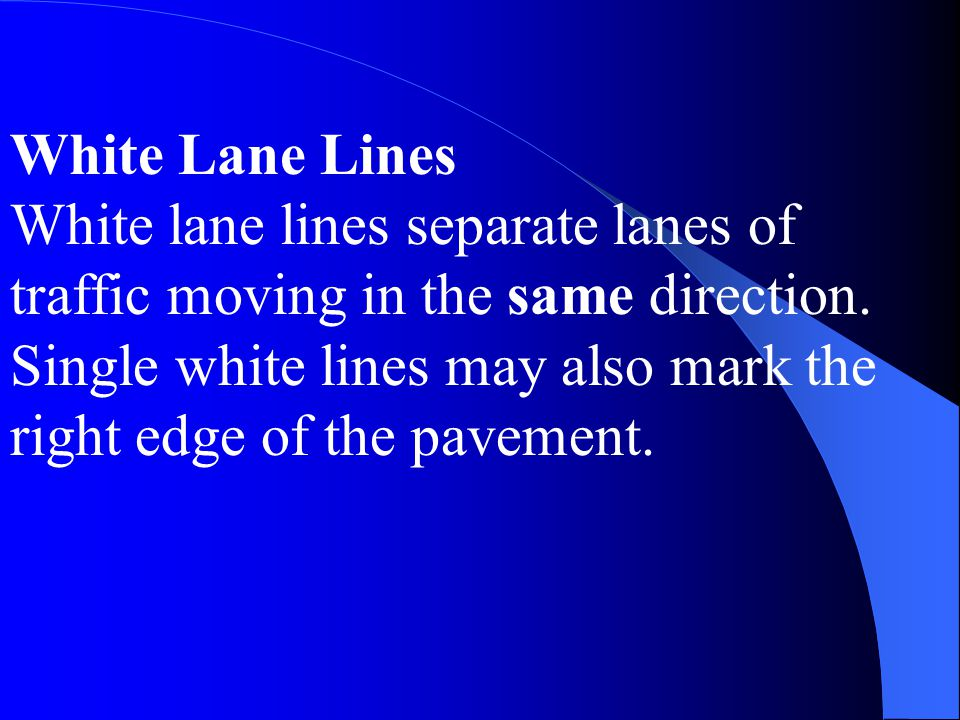 White Lane Lines
